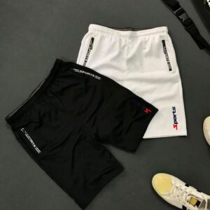 Quần thun thể thao nam 2 túi khóa kéo với chữ sports