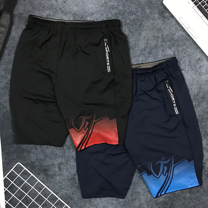 Quần short nam thể thao Sport cách điệu sắc màu ở ống phải