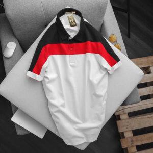 Áo thun nam New Men phối màu xanh đen - đỏ - trắng