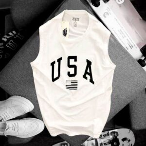 Áo thun nam balo USA màu trắng