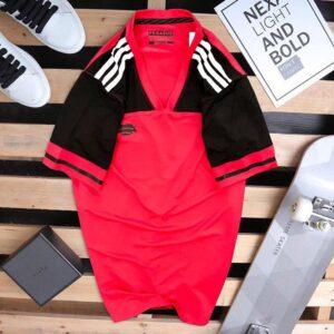 Áo thun thể thao nam Pegasus đỏ phối đen