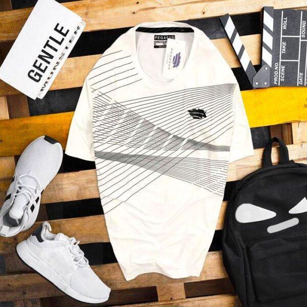 Áo thun nam thể thao PU trắng