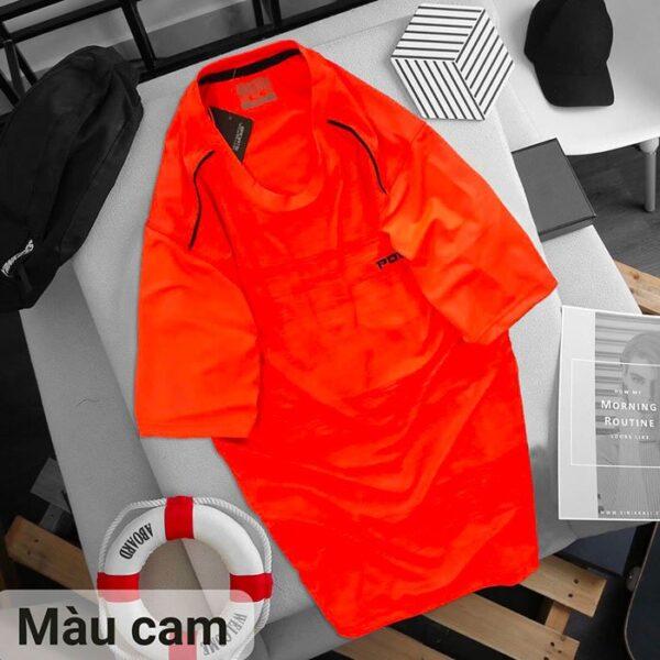 Áo thun cổ tròn Power màu cam