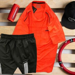 Set áo thun đỏ Power quần short đen Parpa