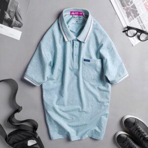 Áo thun nam cotton cao cấp xanh ngọc